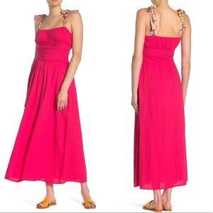 🆕Free People Santorini Maxi Dress in Hot Hibiscus